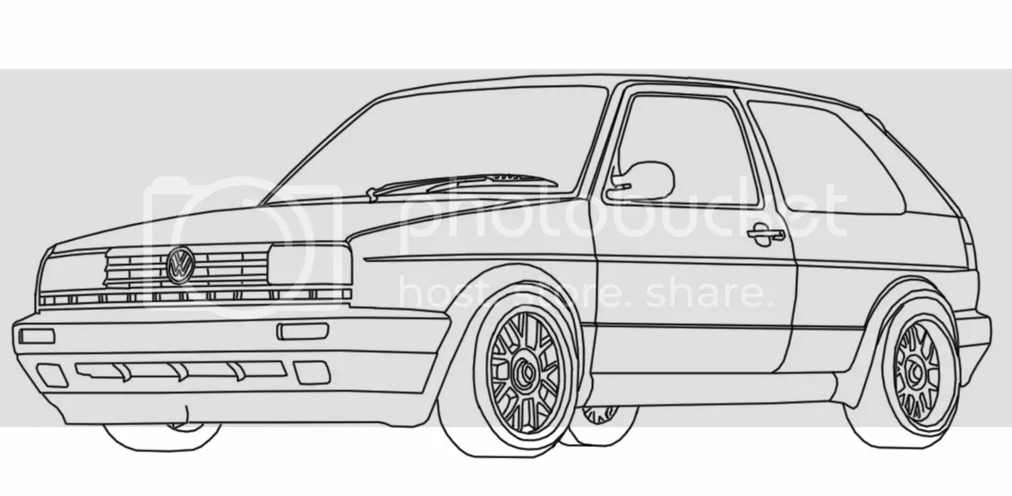 Vw Golf Coloring Page Coloring Pages
