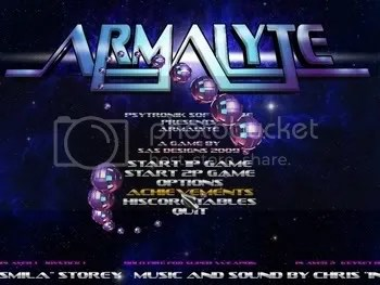 Armalyte PC - title screen