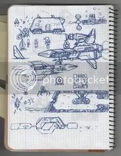 Locomalito's Hydorah sketchbook - page 1