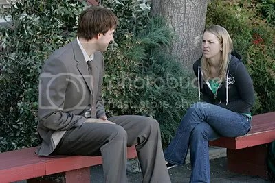 Jim talking to a high schooler