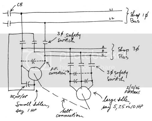 wiring diagram for static phase converter