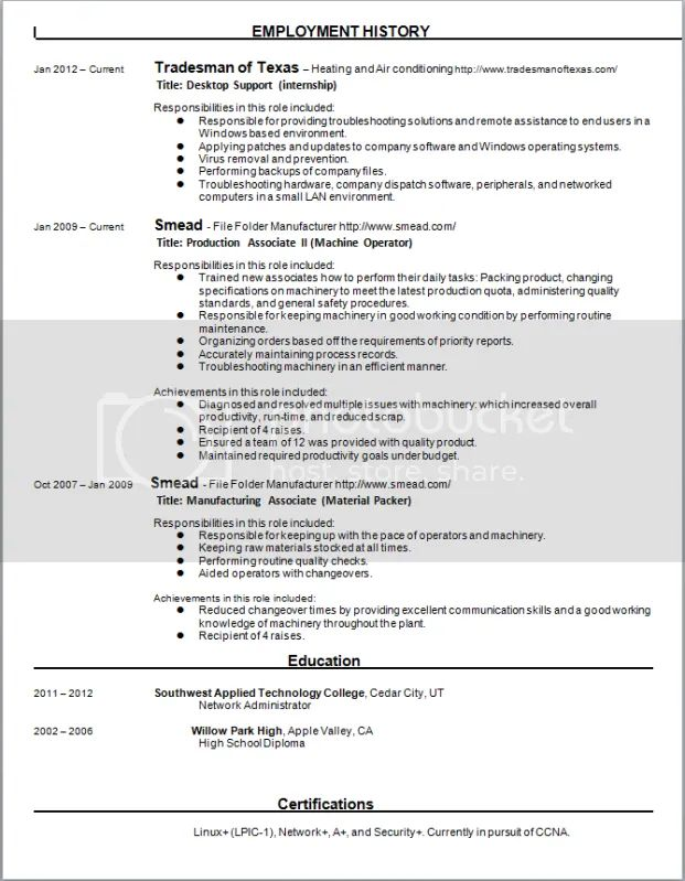 Critique My Resume - Resume Examples | Resume Template