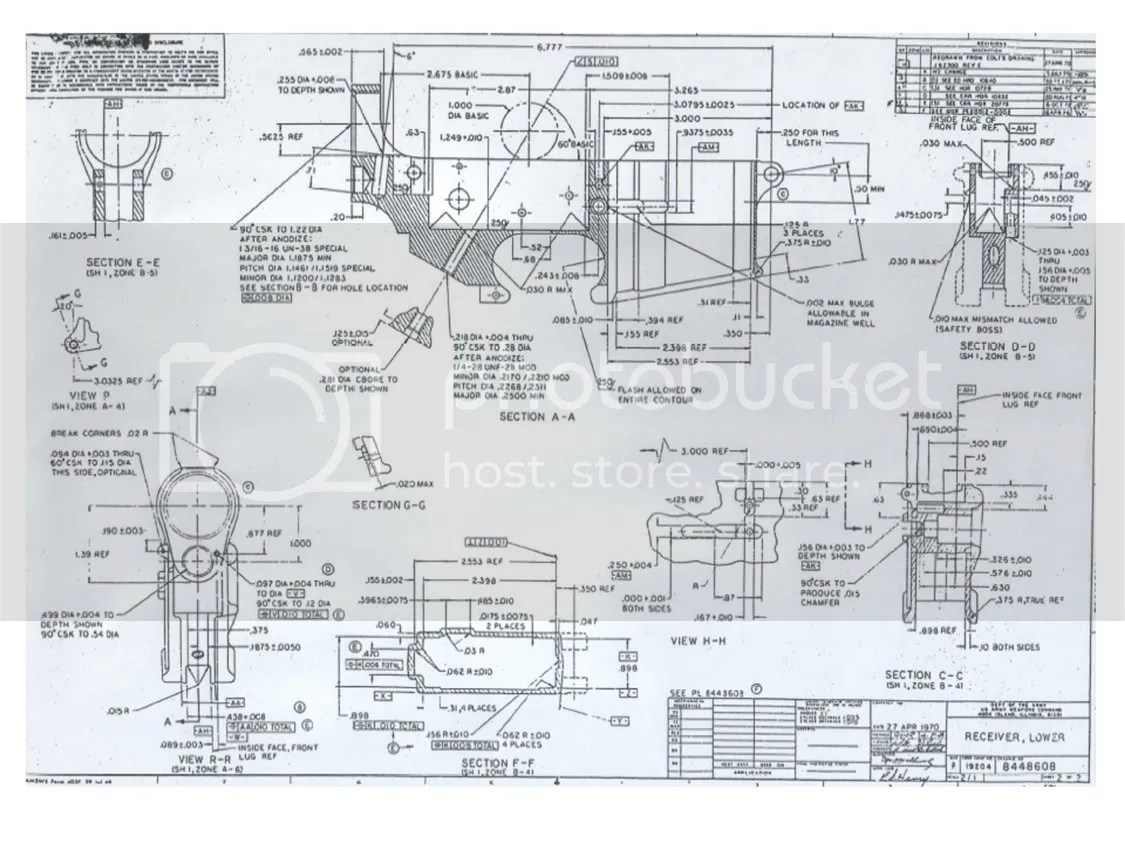 ar 15 lower diagram 2005 cobalt radio wiring receiver dimensions blueprint milling of magazine well simple schema