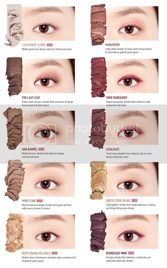 etude house play color eyes wine party swatches eye