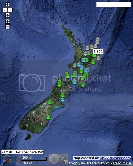 New Zealand Earthquakes June 9th 2009