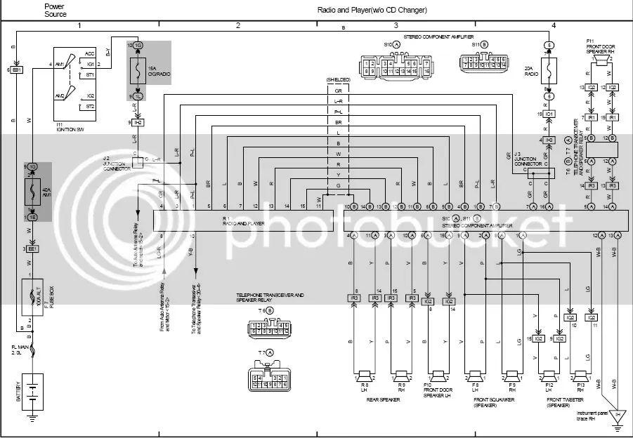 94 lexus radio wiring diagram