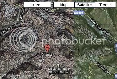 Satellite View of Siena, Italy