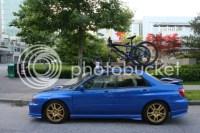 02-07 impreza sedan roof rack with 2 bike carriers - NASIOC