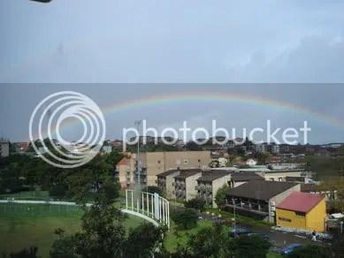 rainbow over unsw