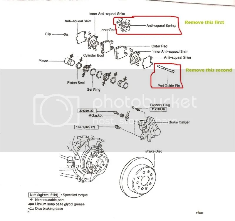 how to change rear brake pad on 99' gs3 SEARCH ALREADY