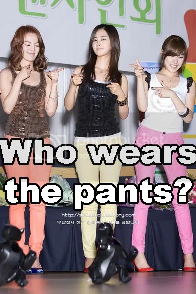 Why ARE they wearing ANY pants?