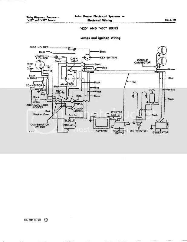 John Deere 60 Tractor Ignition Switch Wiring Diagram Also