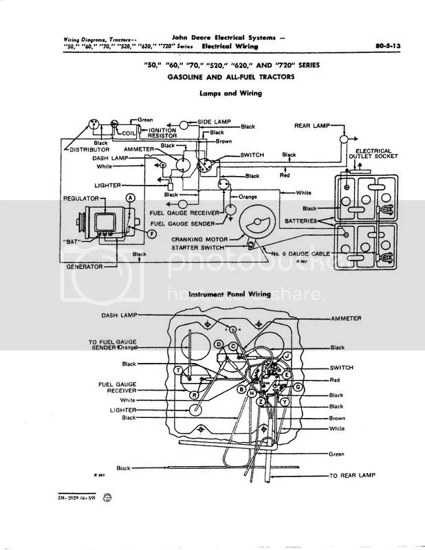 John Deere 730 Diesel Wiring Diagram Late Jd 50 Wiring Diagram Yesterday S Tractors