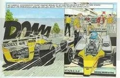 Michel Vaillant als teamgenoot van Alain Prost en René Arnoux bij Renault F1