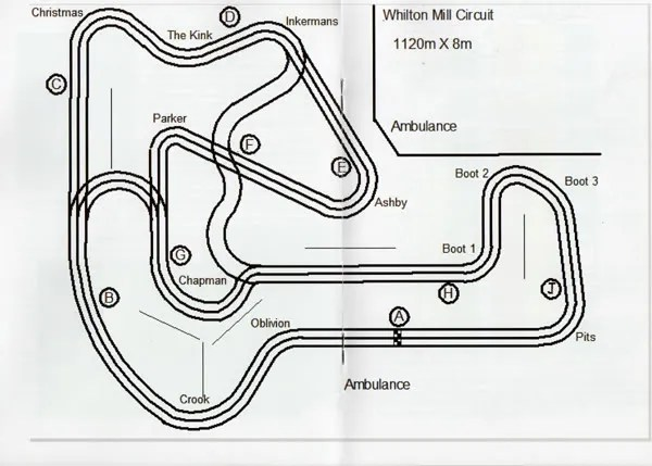 Whilton Mill circuit layout