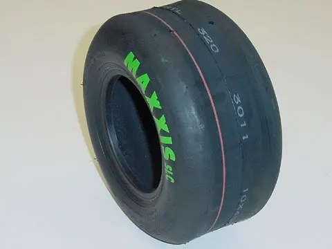 Maxxis green slick tyre for TKM