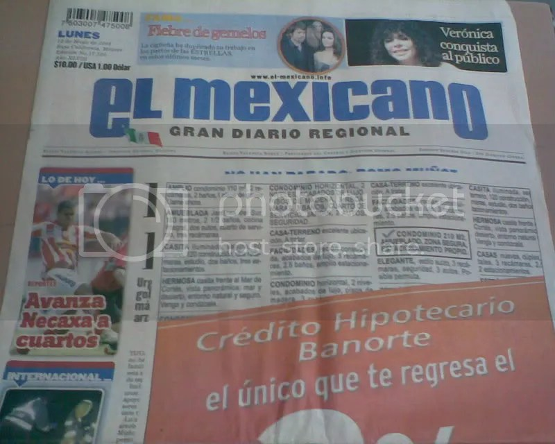 primera plana del mexicano