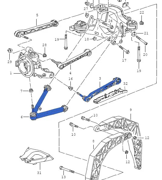 Porsche 993 Rear Suspension Diagram. Porsche. Auto Parts