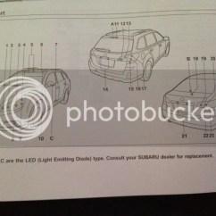 Car Headlight Bulb Diagram 2006 Dodge Ram 1500 Radio Wiring 2011 Legacy Light List (5th Generation) - Subaru Forums