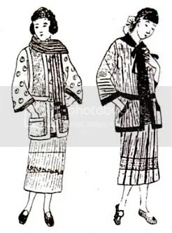 Fashion designs for handknit woollen garments, 1924