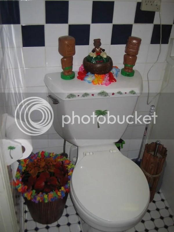 Tiki Bathroom Aka Roommie Thinks ' Crazy