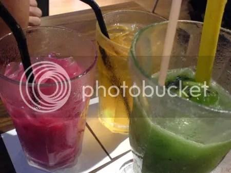 Bandung, Chinese tea, and Blended Kiwi