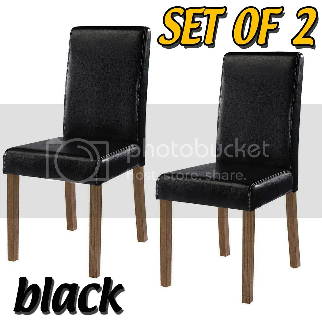 brown leather high back dining chairs 3 in 1 chair ingenuity set of 2 faux room black