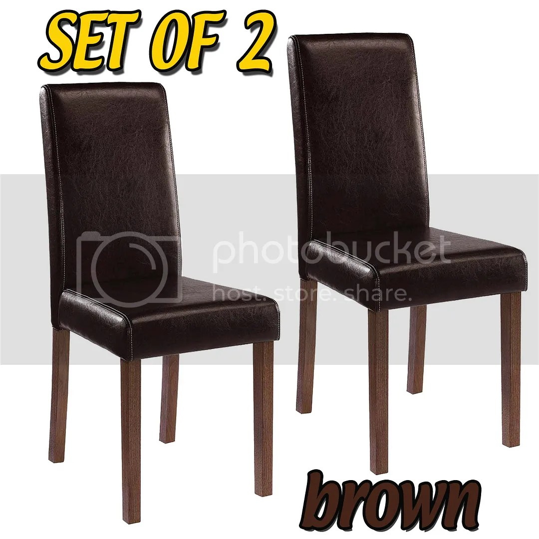 ivory dining chairs uk disney table and set of 2 high back faux leather room black