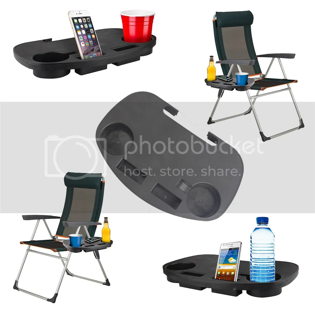 chair side book stand rattan repair camping table clip on portable cup holder