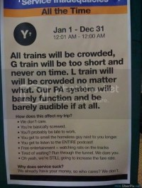 The MTA is the classic example of the New York hassle