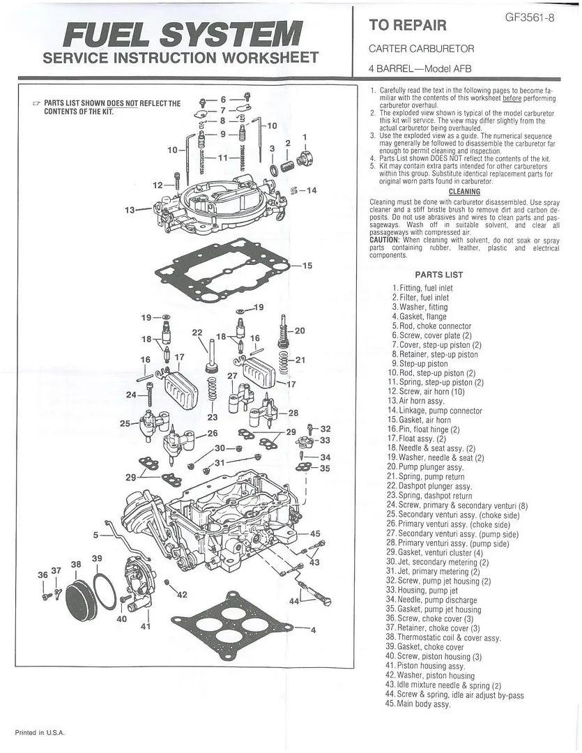 carter carburetor diagram lzk gallery