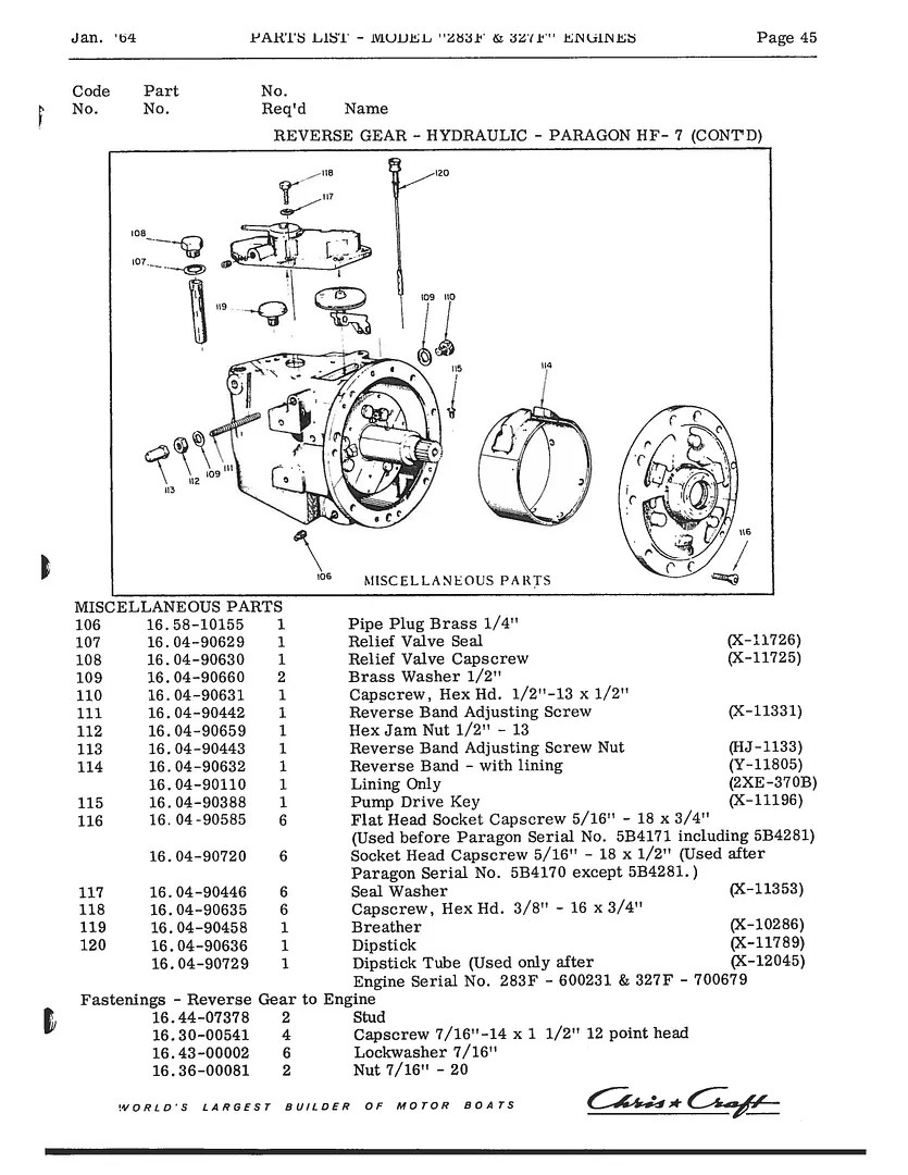 Chris Craft Commander Forum: 283F and 327F Owners Manual