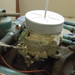 Edelbrock Quicksilver Carburetor Diagram 4 Wire Trailer Lights Marine 1409 Carb Running Points And Pcv Installation In This Photo Above You Can Start To See An Issue There Is A Crankcase Breather On The Left That Will Allow Fumes Be Sucked Into Flame Arrestor