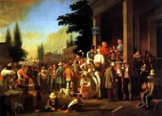 "George Caleb Bingham's ""The County Election,"" Boone County, Missouri"" 1851"