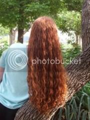 waist length curly hair motivation