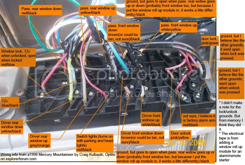 2006 ford escape door ajar wiring diagram pontiac grand prix needed explorer and ranger forums img