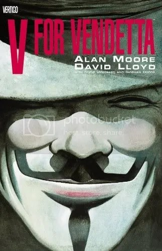 The cover of the V for Vendetta graphic novel