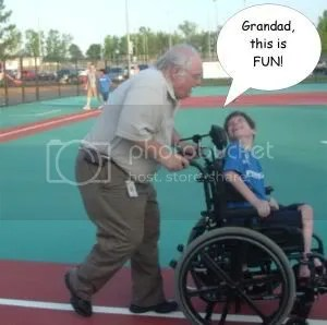 Noah and Grandad Running