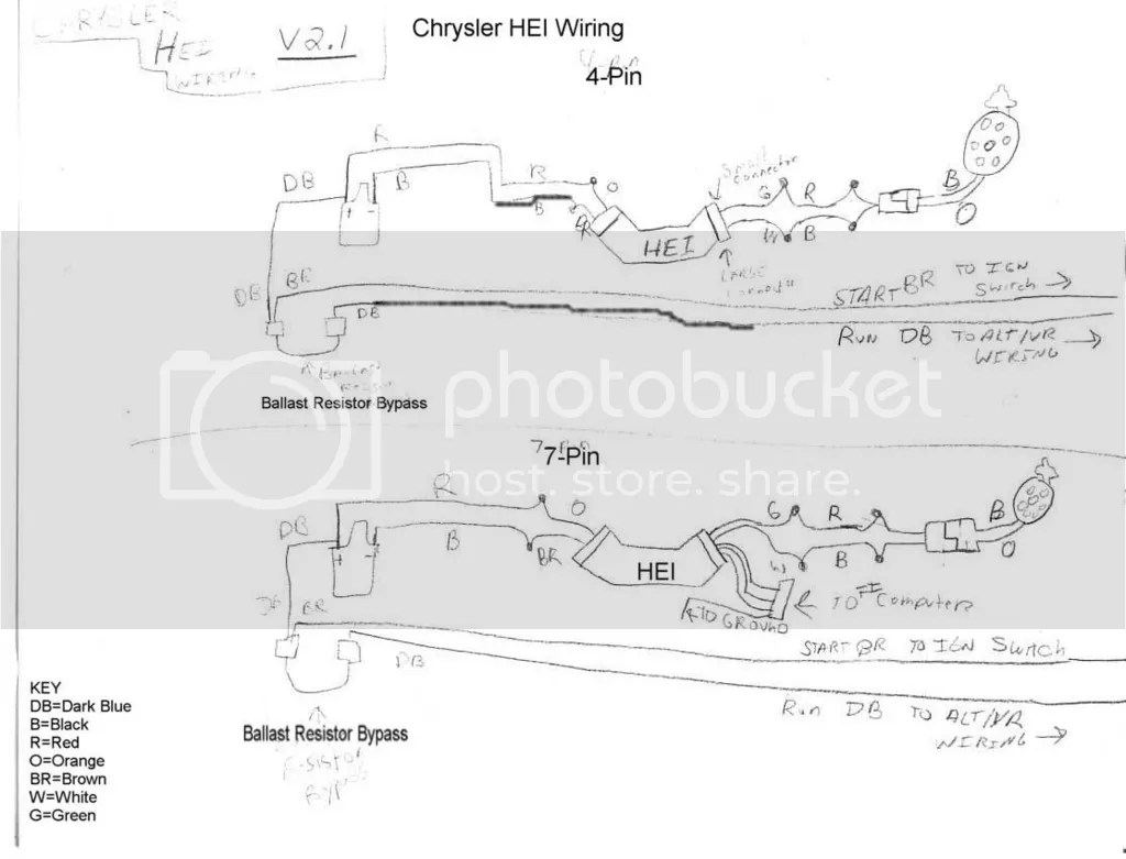 hight resolution of the 7 pin wiring diagram is for if you were using a gm batch fire fuel injection system and need the signal from the hei unit to trigger the injectors