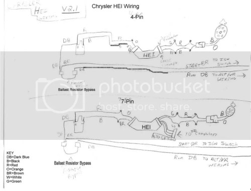 small resolution of the 7 pin wiring diagram is for if you were using a gm batch fire fuel injection system and need the signal from the hei unit to trigger the injectors