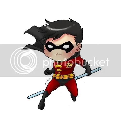 Fanart Chibi!Robins And Batman Robins!