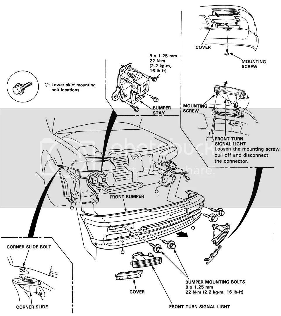 Service Manual Acura Tl Headlight Assembly Removal