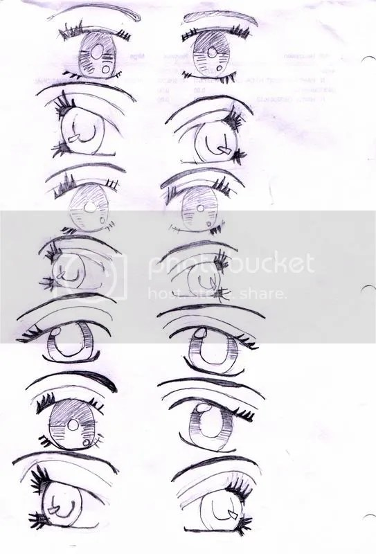 how to draw scared eyes