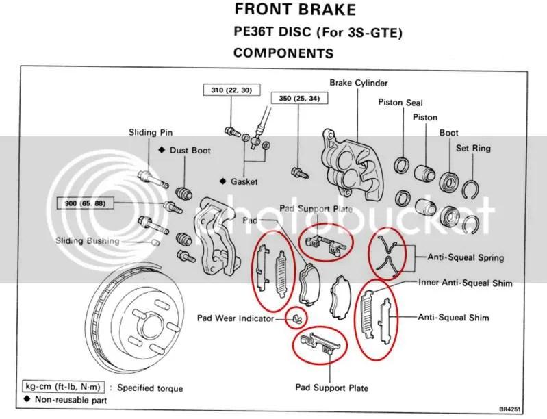 Front Brakes Shim and Fitting Kits