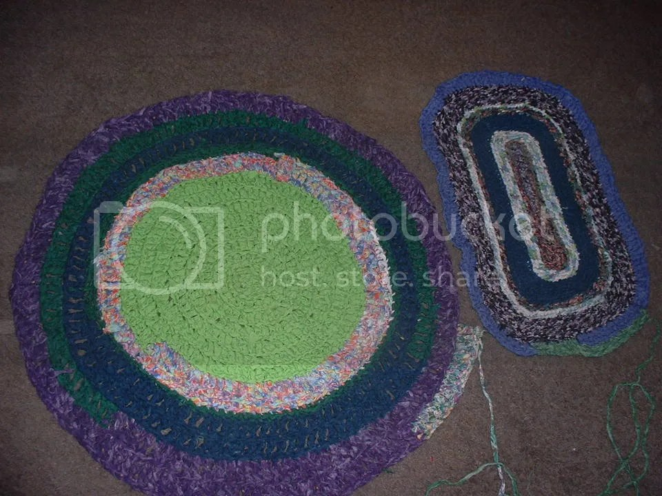 crocheted rugs I'm working on