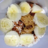 Peanut Butter Banana Cottage Cheese