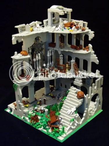 Ruined castle interior