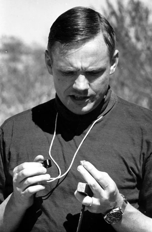 Neil Armstrong wearing his Speedmaster