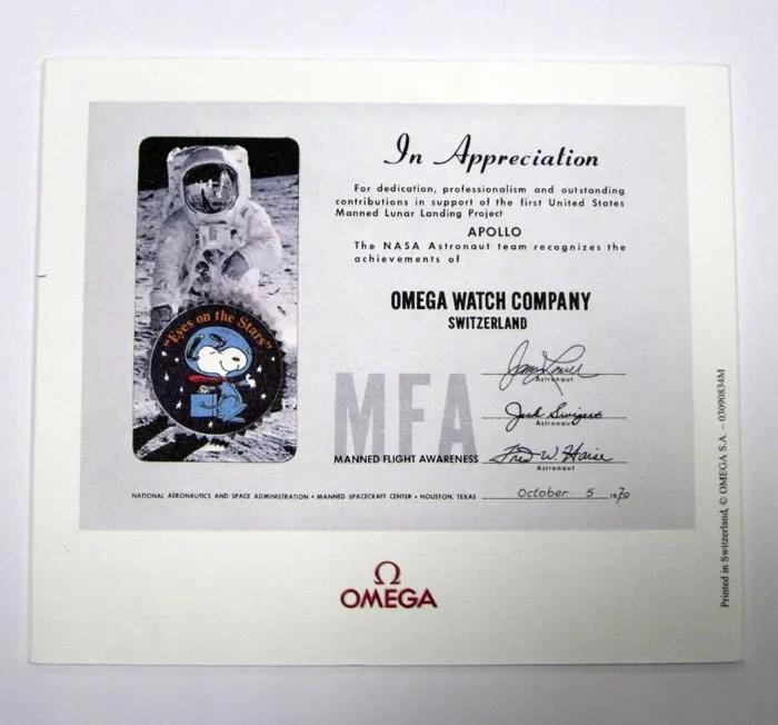NASA Snoopy Award