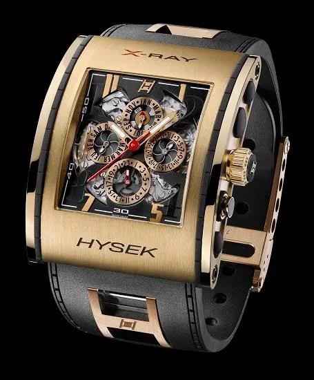 Hysek X-Ray Perpetual Calendar in 18 carat rose gold